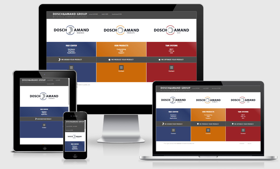 Dosch&Amand Responsive Webdesign