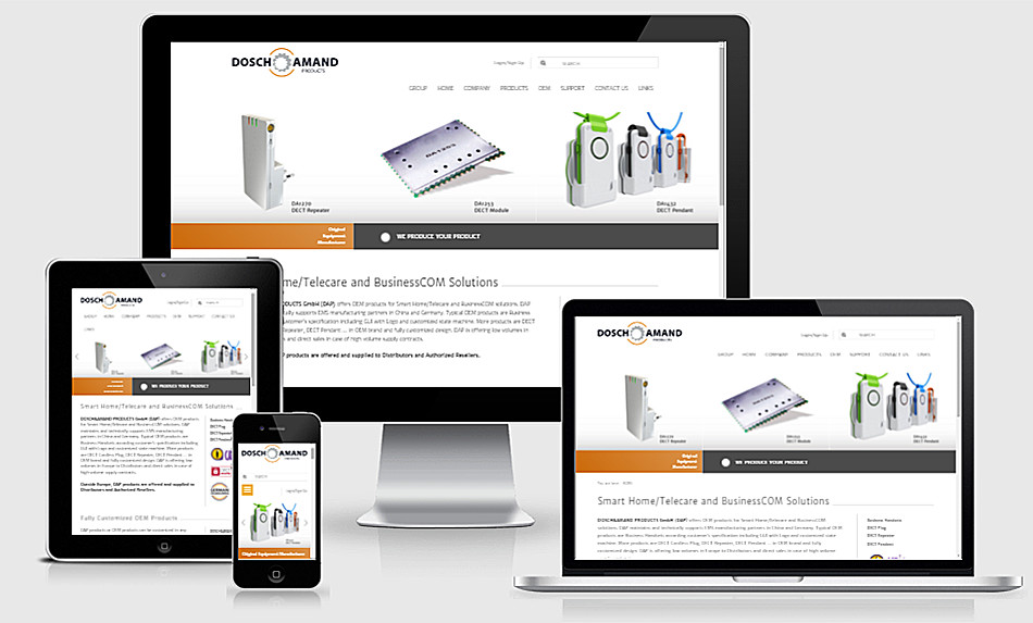 Dosch&Amand Products Responsive Webdesign