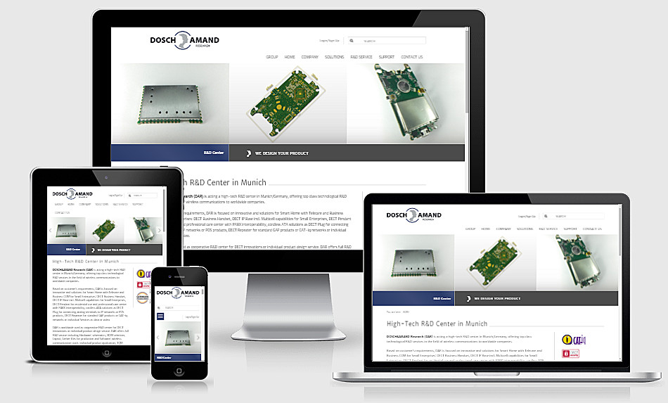 Dosch&Amand Reasearch Responsive Webdesign