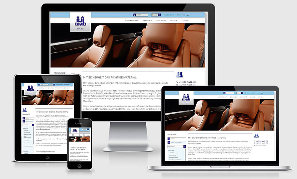 Website und Onlineshop im Responsive Design